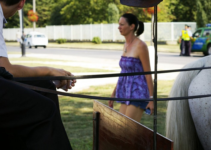 Harkány szüreti fesztivál - lovaskocsira akasztott kalap