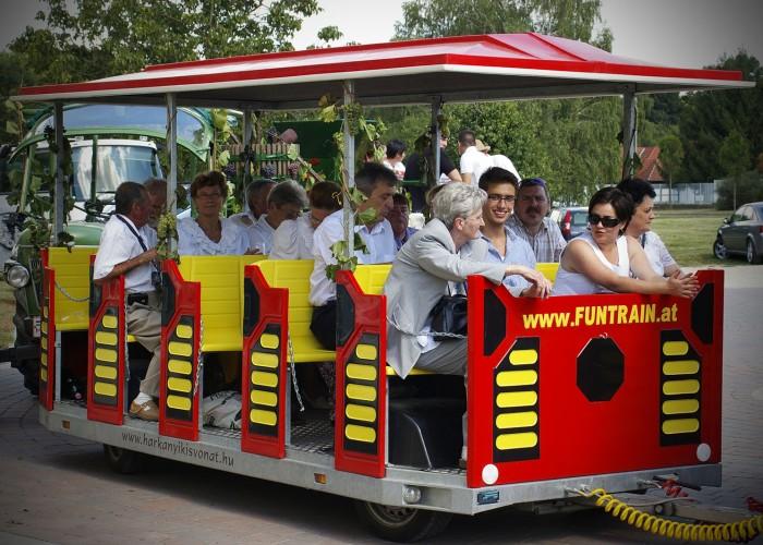 Harkány szüreti fesztivál - vonat