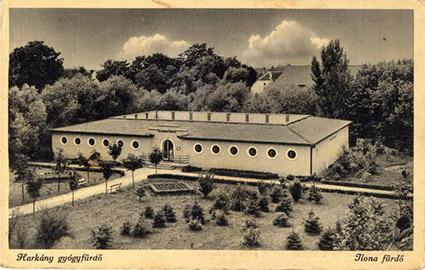 A Harkányi Gyógyfürdő korabeli képe
