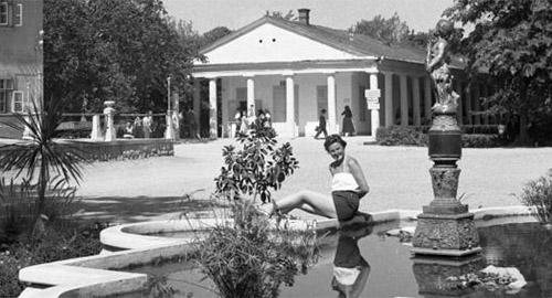 Harkány fürdő a hatvanas-hetvenes évek tájékán