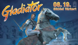 Gladiátor a Siklósi Várkertben